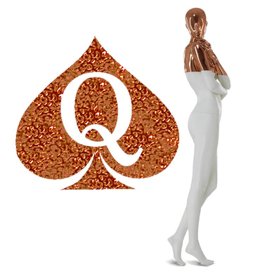 Mettalic Rose Gold Queen of Spades - 2
