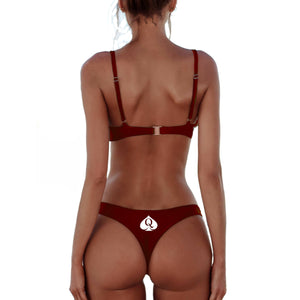 BLKD Brazilian Bikini Push up Bra - Ruby Red