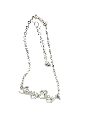 QOS - Cursive SISSY BOY Chain Fetish Bracelet