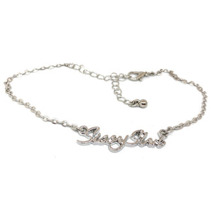 "QOS Queen Of Spades - ""SISSY Slut"" Charm  -  Sissy Chain Anklet"