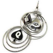 QOS Queen Of Spades - Branded Multi Hoop Earrings for the Hotwife Vixen in you.