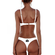 QOS Brazilian Bikini Push up Bra - Off White
