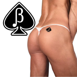 Beta Male Spade - Sub Male - Cuckold - Temporary Tattoos - Black - White