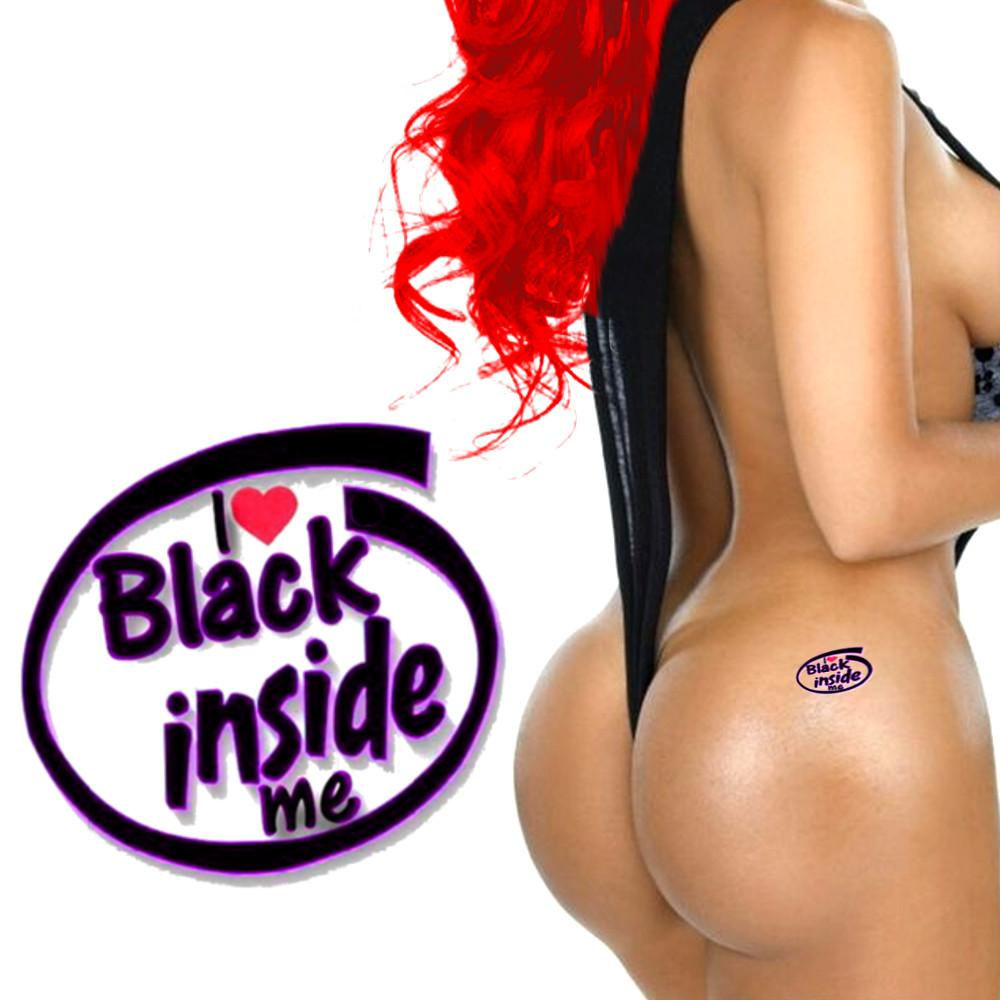 QOS - I Love Black Inside Me - High Quality Temporary Tattoos - Black Red & Purple