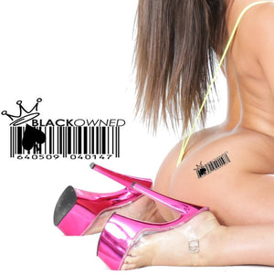 QOS - Black Owned Bar Code - High Quality Temporary Tattoos