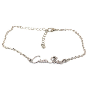 QOS - Cursive CUM SLUT Chain Fetish Bracelet