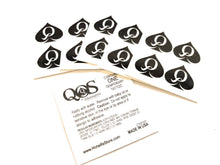 4 in 1 Mini QOS Queen Of Spades Temporay Tattoos - Vixen, Sissy, Cuckold, Hotwife