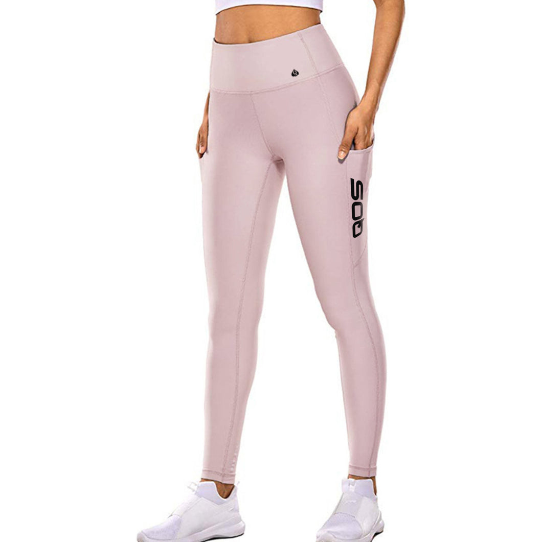 Pink - QOS Label Leggings - Sexy Original Queen Of Spades edition