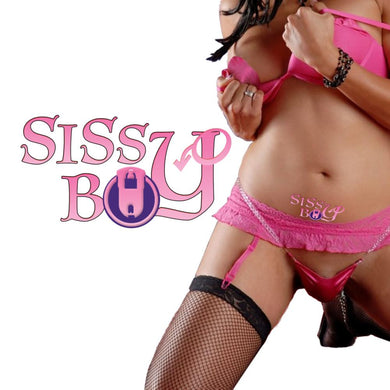 SISSY BOY - MALE CHASITY - INFERIOR MEN- TEMPORARY TATTOO - Pink & Purple