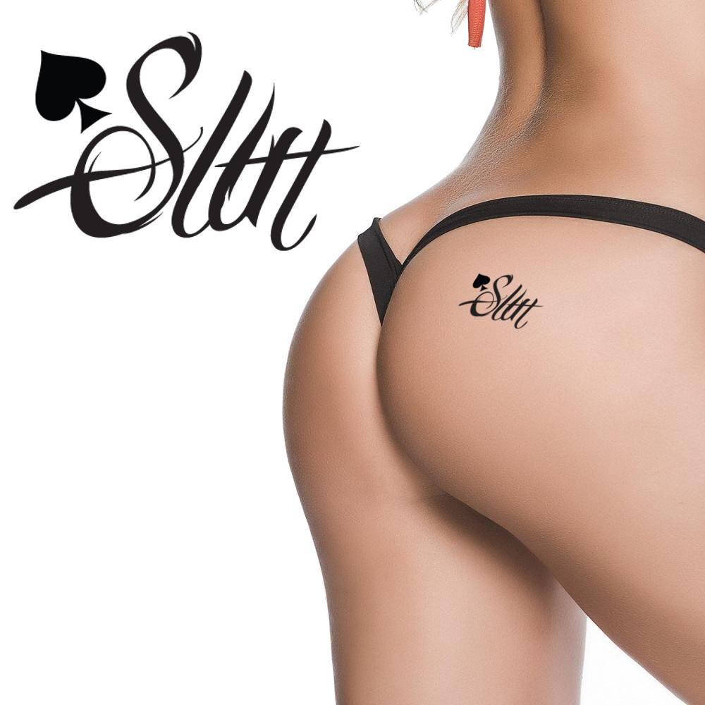 QOS - Spade Slut - Vixen - High Quality Temporary Tattoos - Black