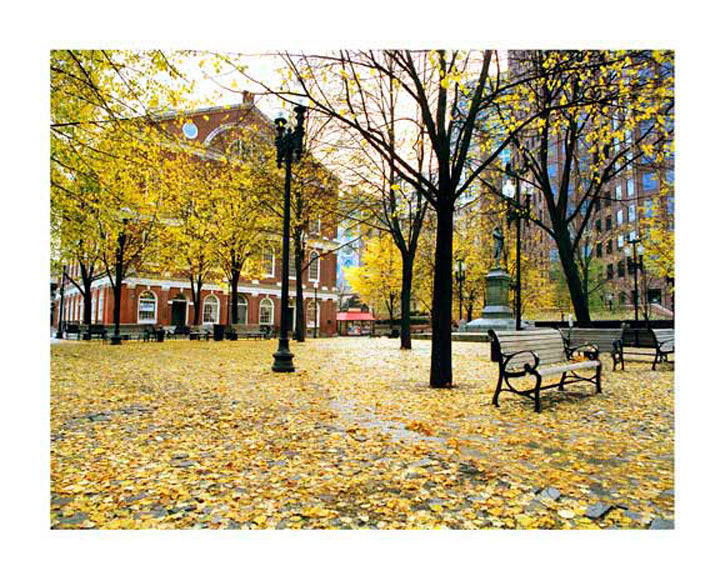 BOSTON: Faneuil Hall in Autumn