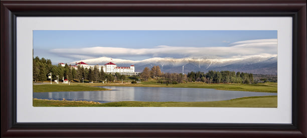 Spring at the Mount Washington Hotel , 8x20 framed