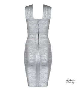 Goldman Clothing BANDAGE DRESS HALTER SILVER Klänningar Custom Made bandage-dress-halter-silver Alla produkter Fest holiday Klänningar