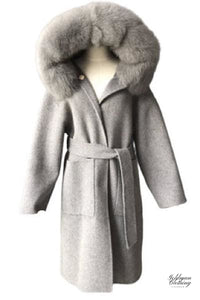 Goldman Clothing COAT FOX & WOOL ELLA LONG Jackor Custom Made coat-fox-wool-ella-long Alla produkter Jackor Nytt Vinter kr3499.00