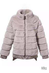 Goldman Clothing JACKET PINK REX RABBIT Jackor Custom Made jacket-pink-rex-rabbit Alla produkter Jackor Nytt Vinter kr5499.00