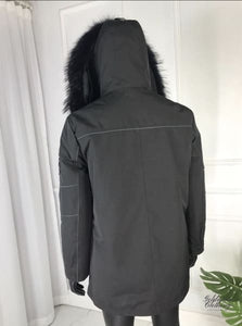 Goldman Clothing Menswear PARKAS FOX PIXLY BLACK Jackor Custom Made parkas-racoon-pixly-black Alla produkter Jackor menswear Nytt Vinter