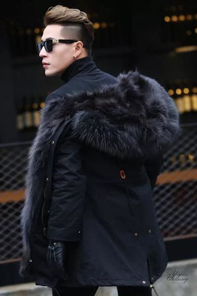 Goldman Clothing Menswear PARKAS RACOON ALL BLACK Jackor Custom Made parkas-racoon-all-black Alla produkter Jackor menswear Nytt Vinter