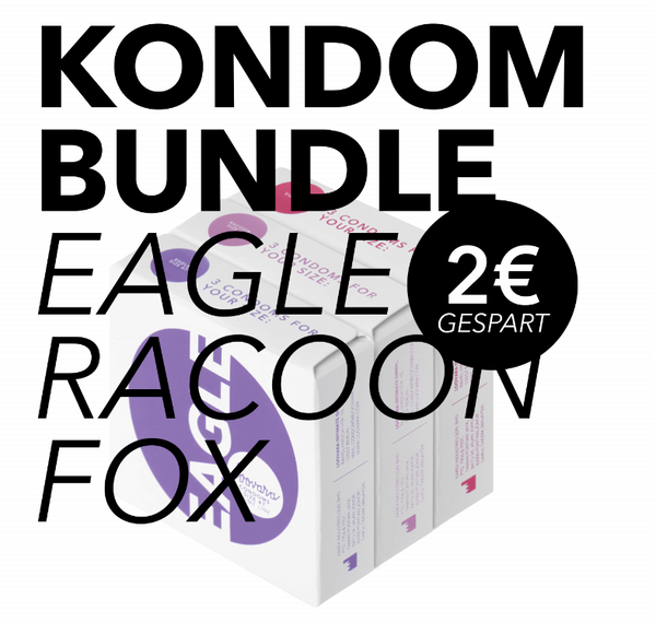 Kondom Bundle Eagle-Racoon-Fox