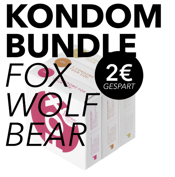 Kondom Bundle Fox-Wolf-Bear