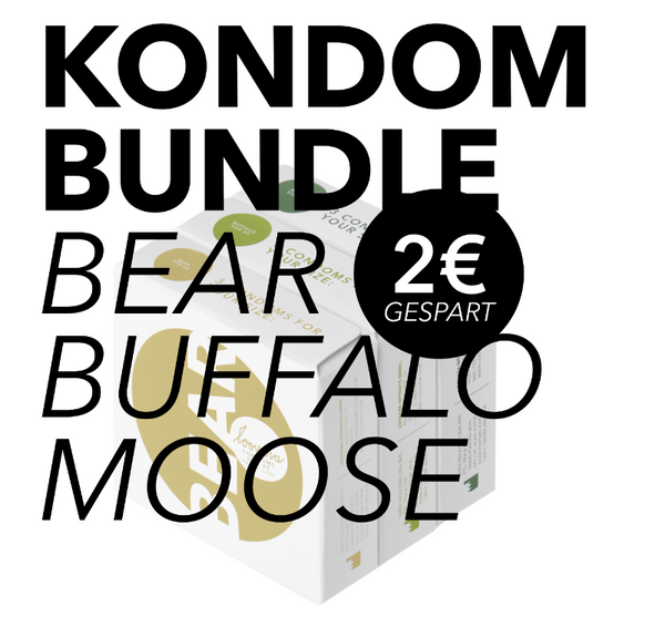 Kondom Bundle Bear-Buffalo-Moose