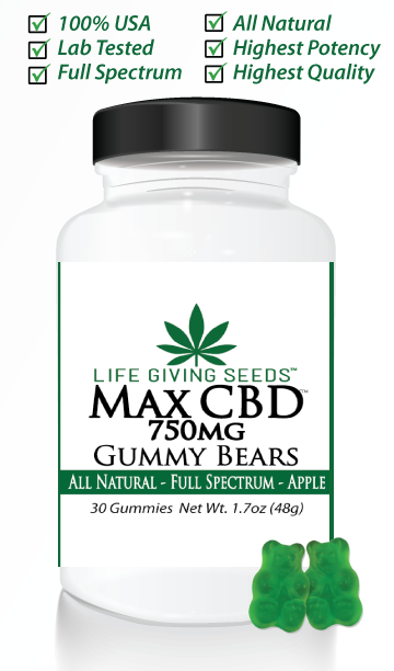 Max CBD FULL Spectrum Gummy 750mg (30 count - 25mg/per)