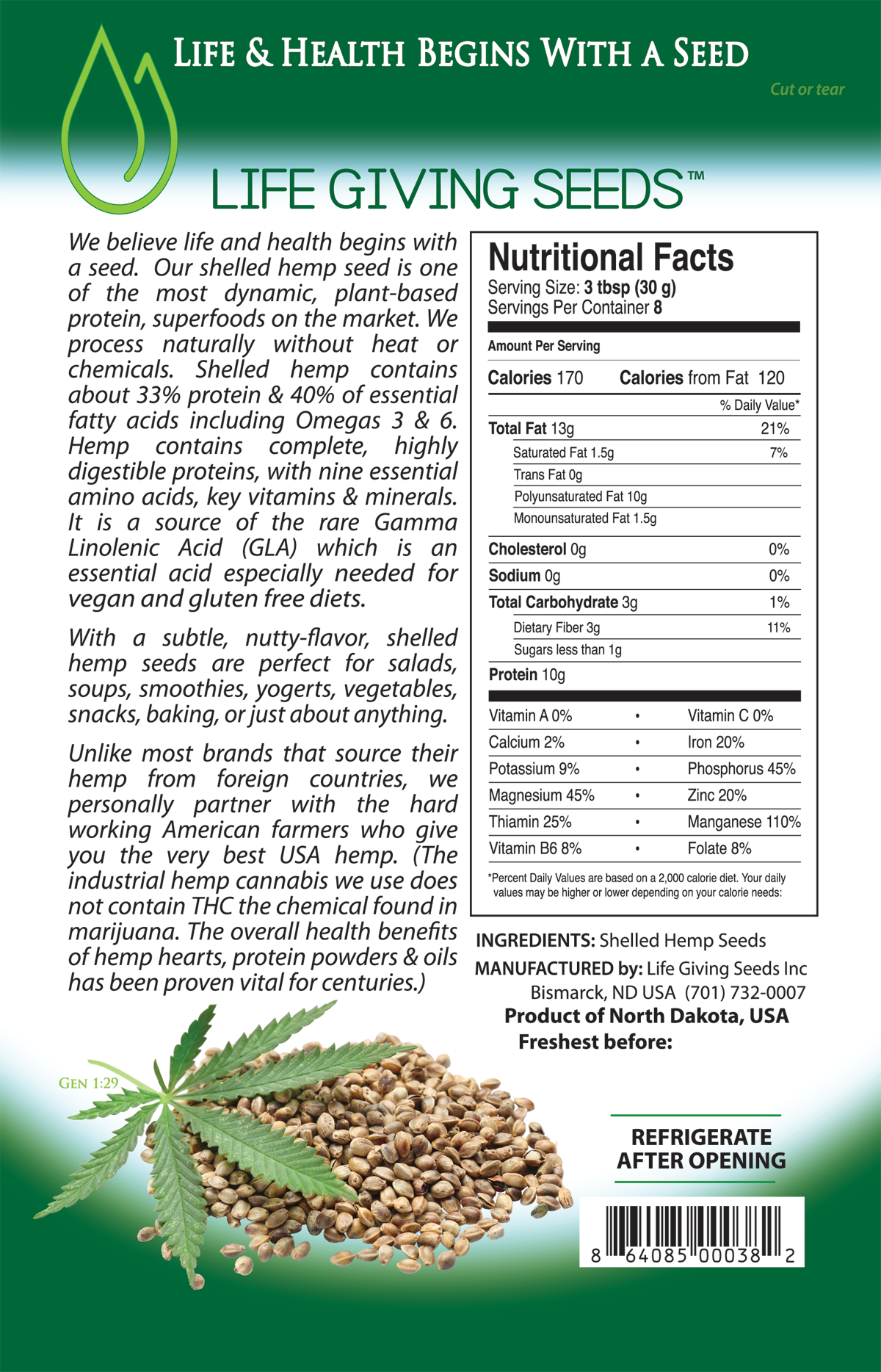 Best Hempseed Hearts Hemp Seed Shelled Hemp