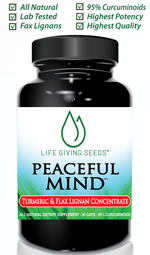 PEACEFUL MIND (Flax Lignans & 95% Curcuminoids Turmeric)