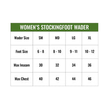 Load image into Gallery viewer, Women's Hellbender Stockingfoot Chest Waders