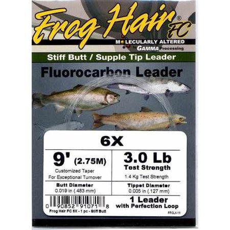 Frog Hair Fluorocarbon Leaders