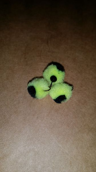 Bumble Bee Glo Ball Mini Jig