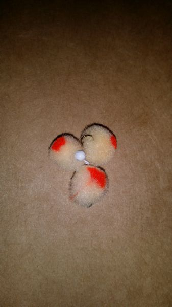 Egg With Red Dot Glo Ball Mini Jig