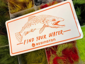 Redington find your water sticker