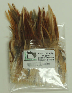 "Hareline Dubbin 6-7"" Woolly Bugger Saddle Hackle"