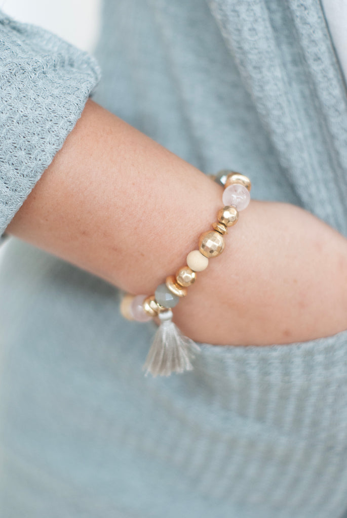 Rose Day Dreams Tassel Bracelet