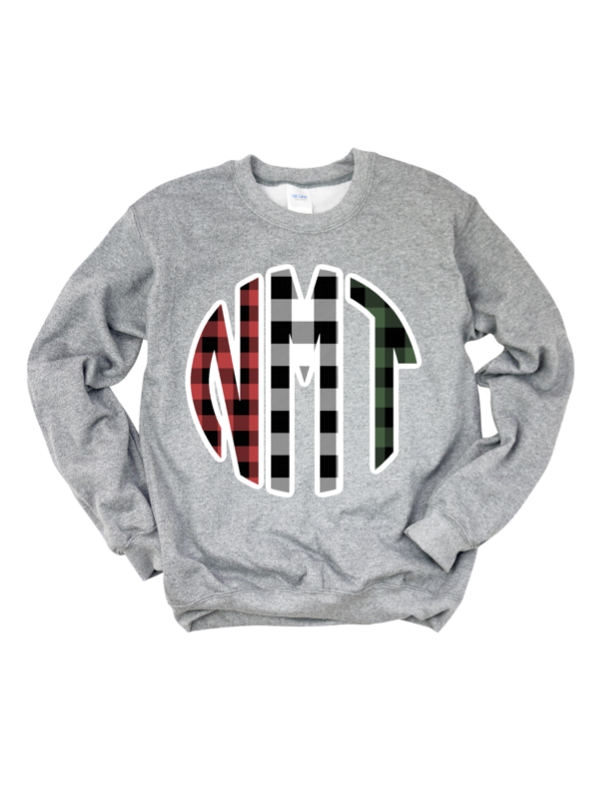 Buffalo Plaid Monogram Sweatshirt