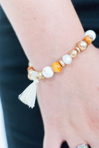 White Day Dreams Tassel Bracelet