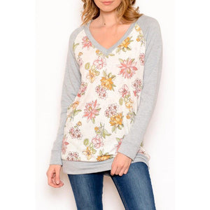 Ivory Floral Top - Faye Baby Boutique