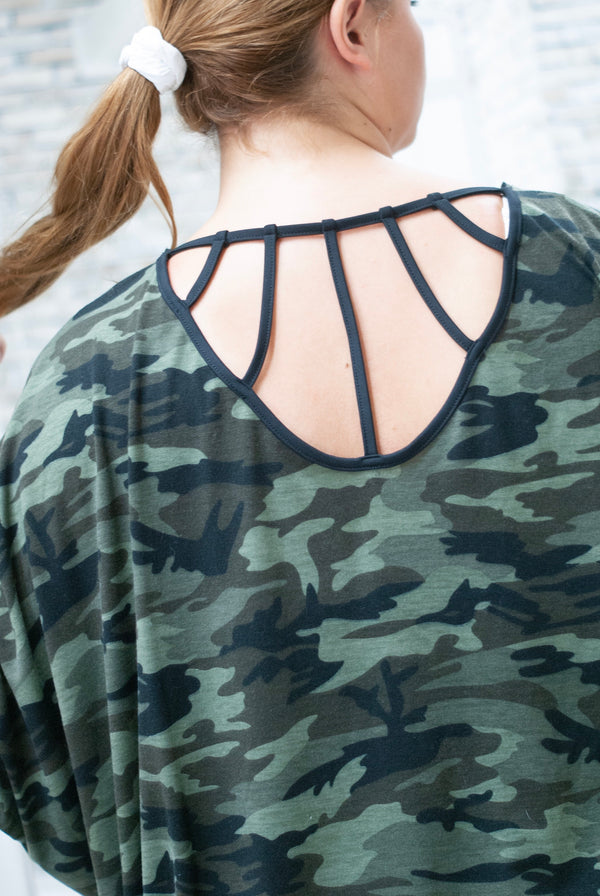 Camo Back Detail Cardigan