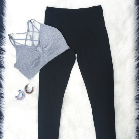 3X-5X Black Buttery Soft Leggings