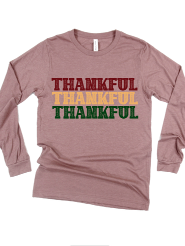 Long Sleeve Thankful Graphic Tee