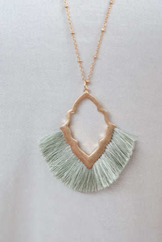 Green Fan Necklace