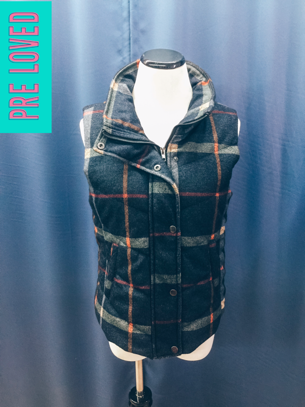 Pre Loved Small Plaid Vest