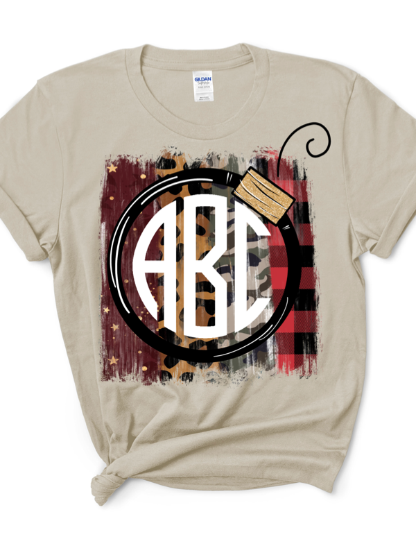 Black Friday Ornament Monogram Graphic Tee