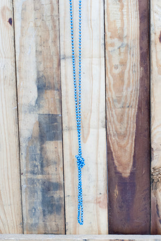 Baby Blue Top Knot Necklace