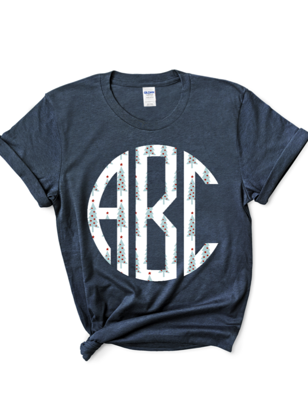 Black Friday Patterned Monogram Graphic Tee