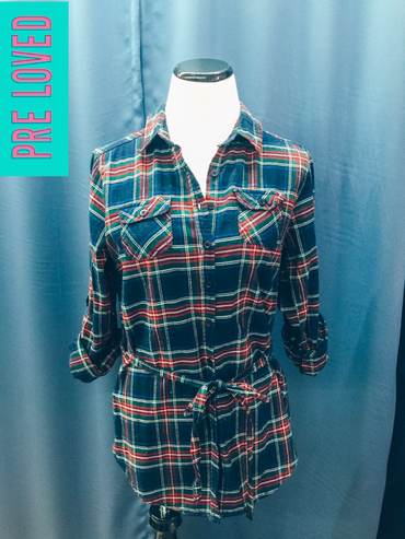 Pre Loved Small Flannel Tunic