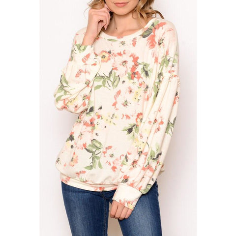 Waiting For Tonight Floral Sweater - Faye Baby Boutique