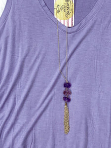 Always Amethyst Necklace - Faye Baby Boutique