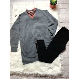 Gray Boyfriend Sweatshirt - Faye Baby Designs