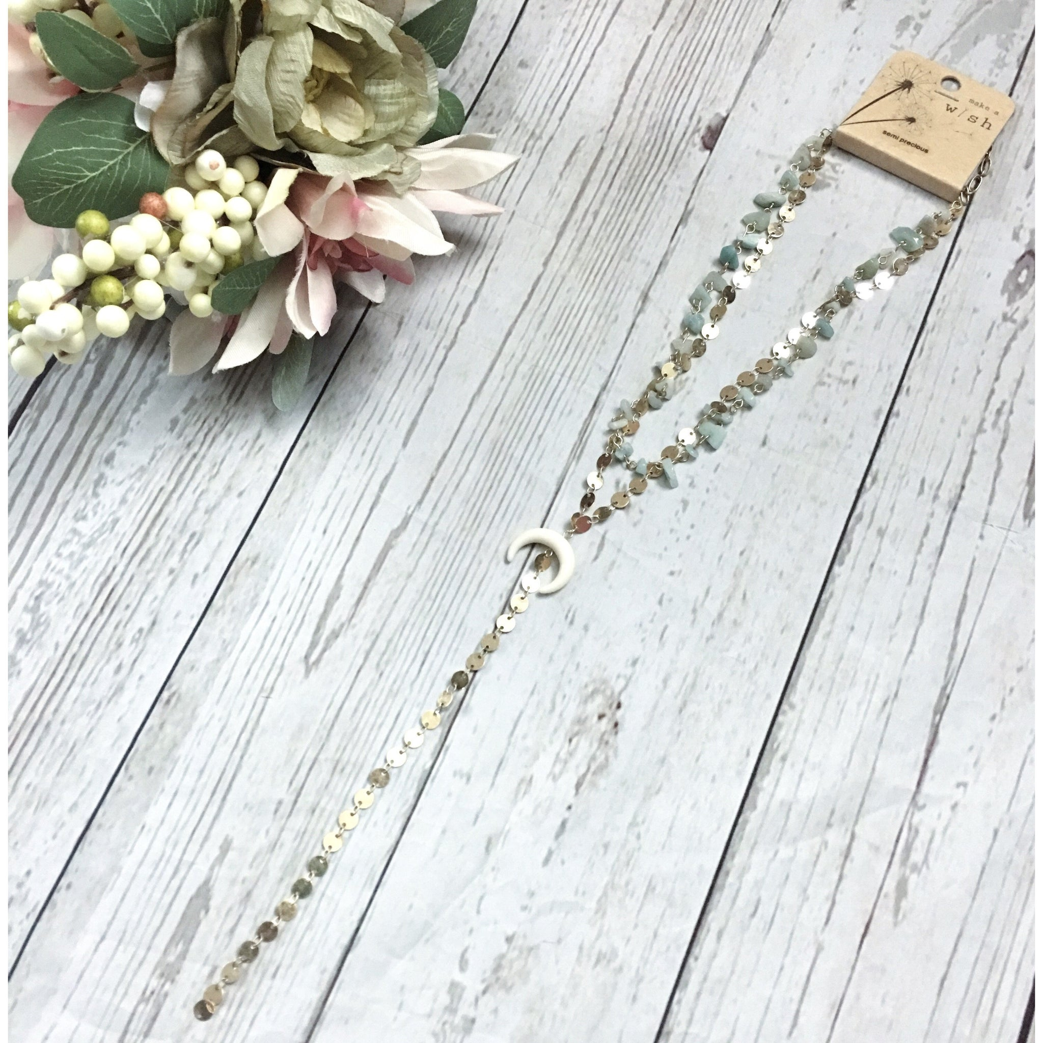 Walk The Line Long Drop Necklace - Faye Baby Designs